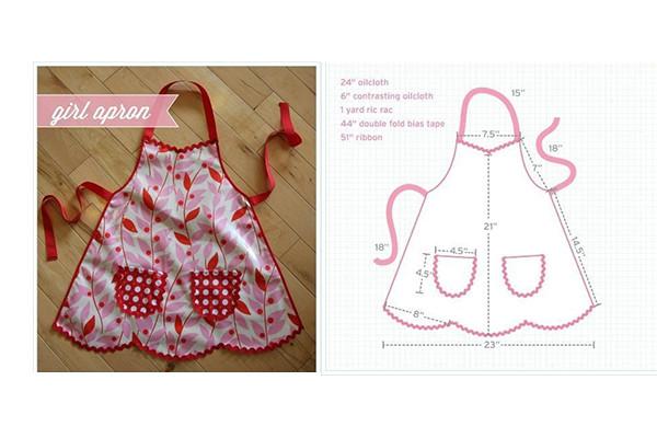 confeccionar moda infantil delantal niña