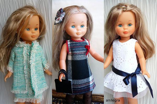 confeccionar moda infantil muñecas