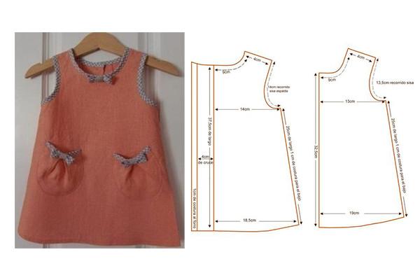 confeccionar moda infantil vestido