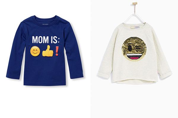 ropa infantil y emojis