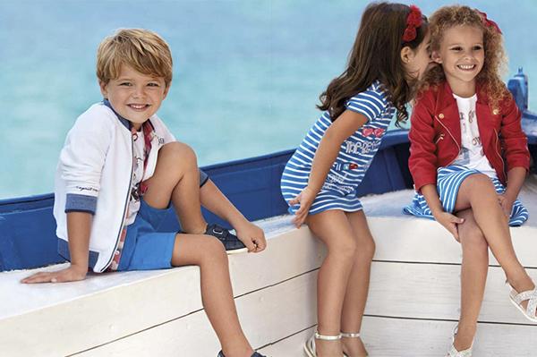 estilo navy para de moda infantil primavera