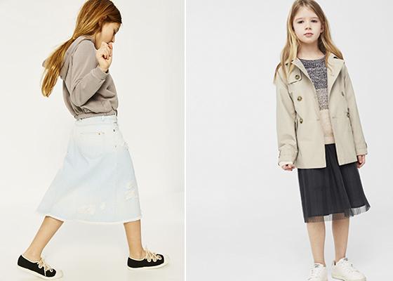 moda trench niños y niñas