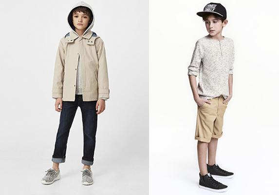 moda trench niños