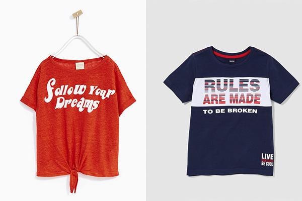 nueva tendencia de moda infantil camisetas