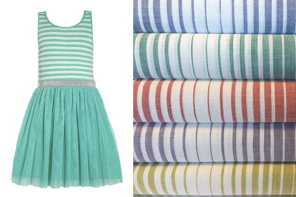 tejidos de moda infantil para verano rayas