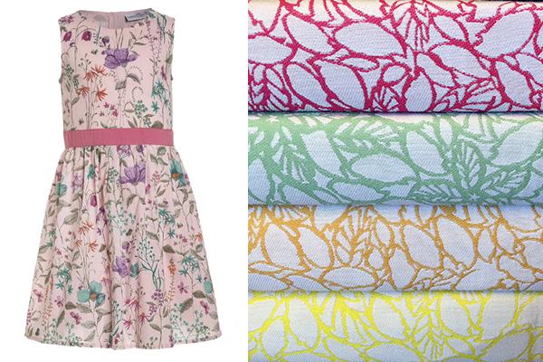 tejidos de verano para moda infantil con flores