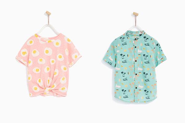 camisas moda infantil de verano