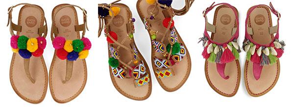 pompones en la ropa de niños y calzado