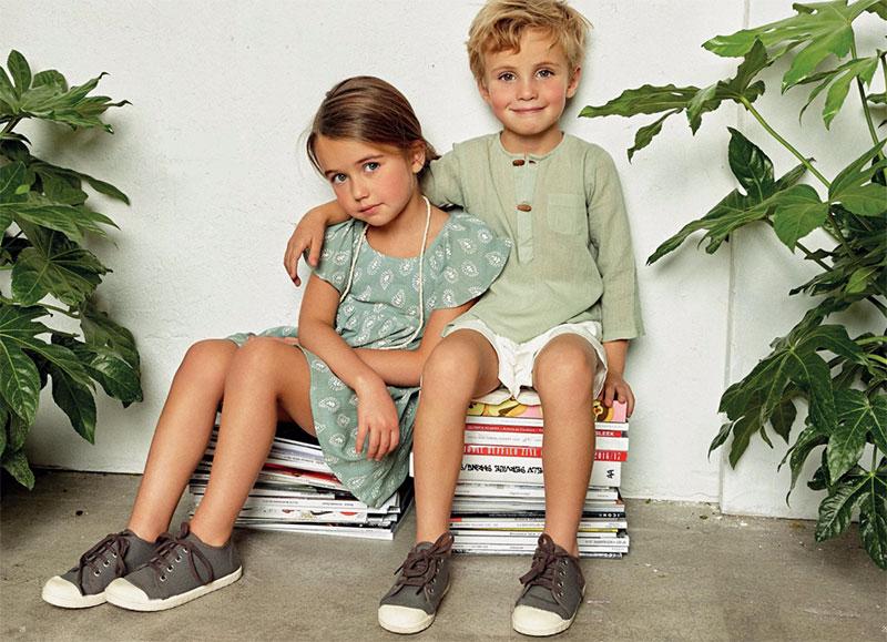 moda infantil de verano con tonos pastel