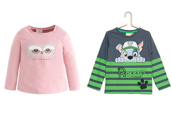 estampados de la ropa infantil camisetas
