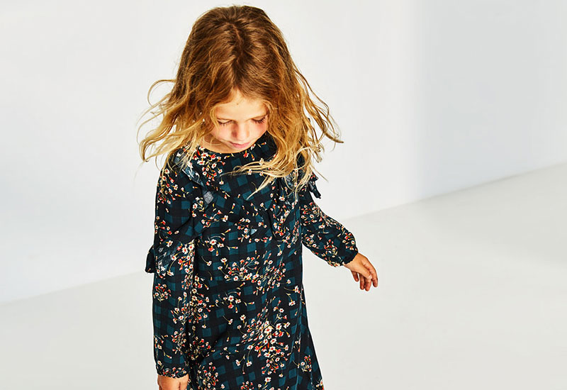 estampados de la ropa infantil otoño