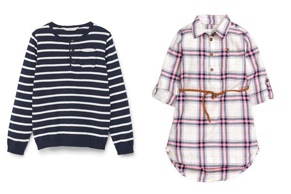 estampados de ropa infantil cuadros y rayas
