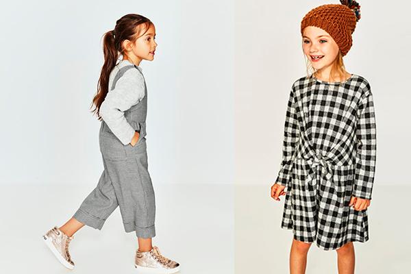 tendencia de moda infantil blanco y negro