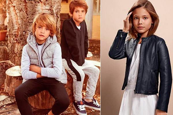 tendencia en moda infantil blanco y negro
